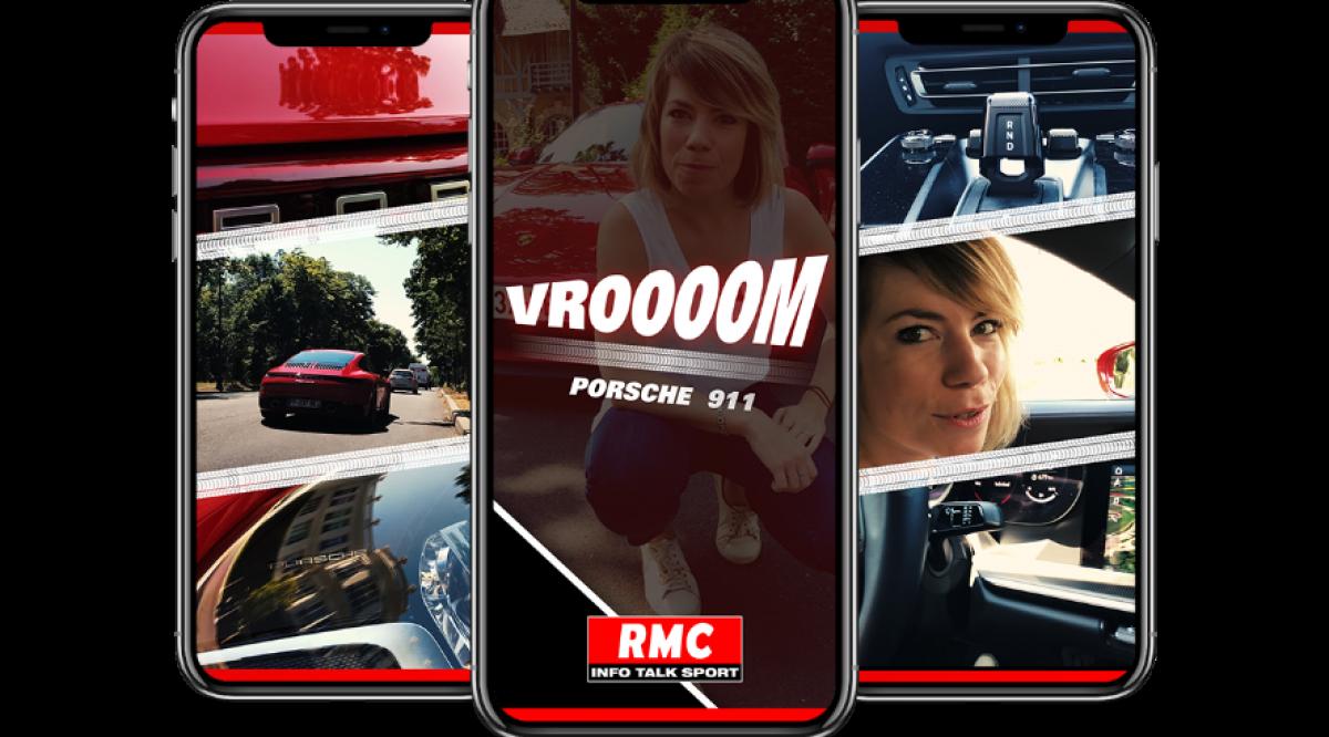 RMC sur Snapchat Discover avec un show Auto - Image